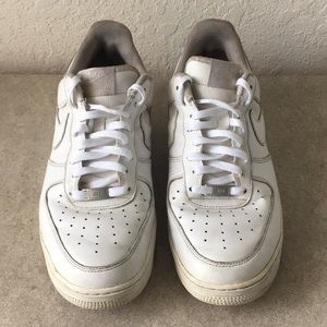 Men Nike Air Force 1 Low Top White Shoes Size
